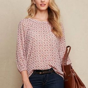 Pink Swiss Floral Dot Tunic Top